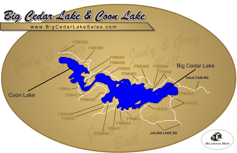 Big Cedar Lake & Coon Lake